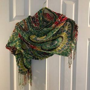 Beautiful boho scarf. Colorful.